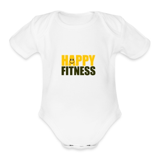 Happy Fitness - Organic Short Sleeve Baby Bodysuit