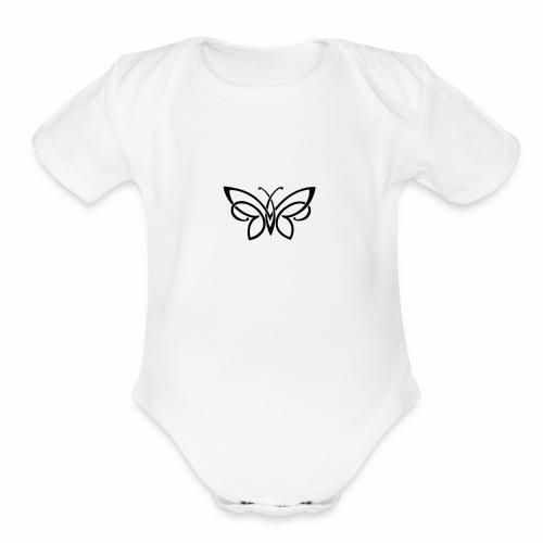 Flow - Organic Short Sleeve Baby Bodysuit