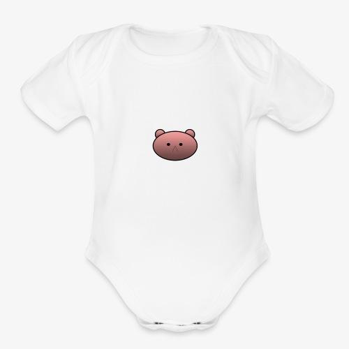 Teddy Bear - Organic Short Sleeve Baby Bodysuit