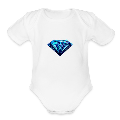 Diamond for be always rich kids ron paulers 15%off - Organic Short Sleeve Baby Bodysuit