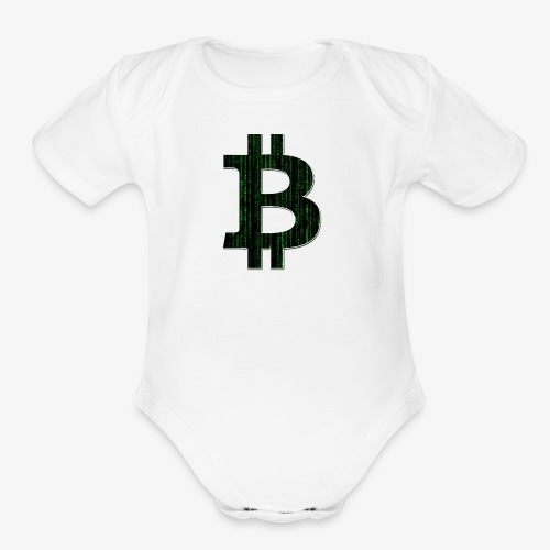 BTC Logo Matrix - Organic Short Sleeve Baby Bodysuit