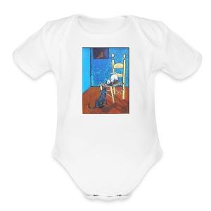 DOG & CAT - Short Sleeve Baby Bodysuit