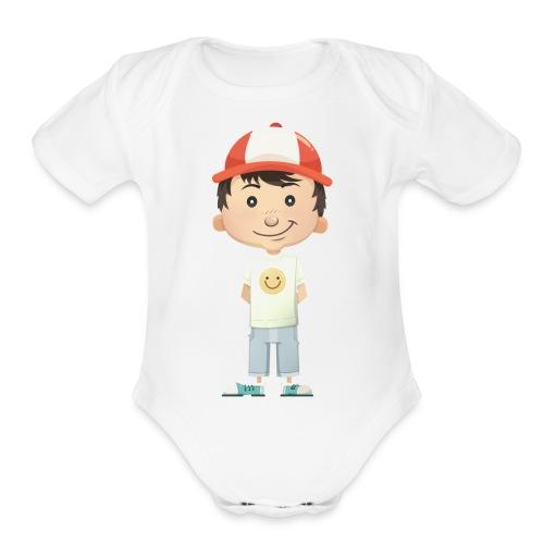 Character - Organic Short Sleeve Baby Bodysuit
