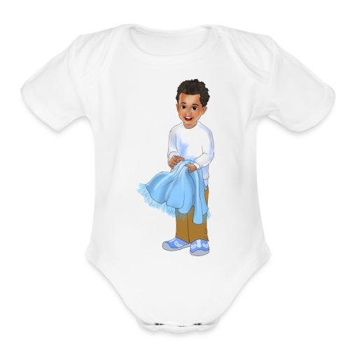 chandler j shelton LOGO BY Shelly Shelton - Organic Short Sleeve Baby Bodysuit