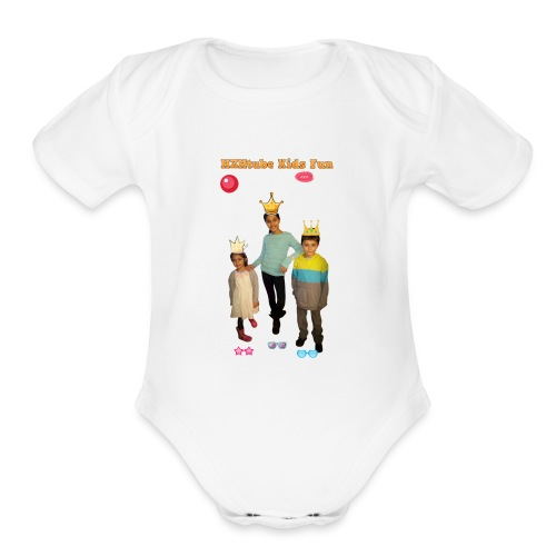 HZHtube Kids Fun T-Shirt - Organic Short Sleeve Baby Bodysuit