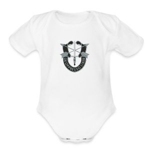 SF Crest - Short Sleeve Baby Bodysuit