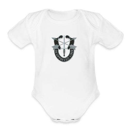 SF Crest - Organic Short Sleeve Baby Bodysuit