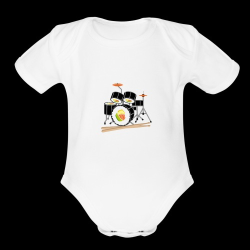 Sushi Roll Drum Set - Organic Short Sleeve Baby Bodysuit