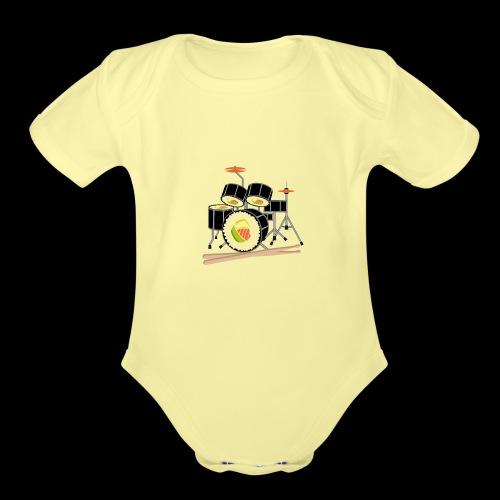 Sushi Roll Drum Set - Organic Short Sleeve Baby Bodysuit