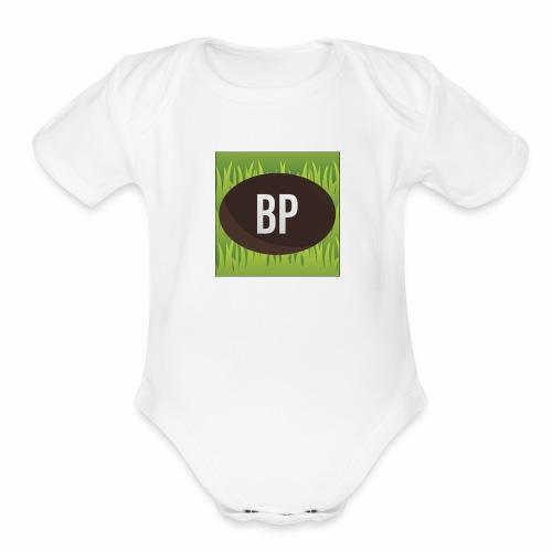 Bunnypoo Logo 1 - Organic Short Sleeve Baby Bodysuit