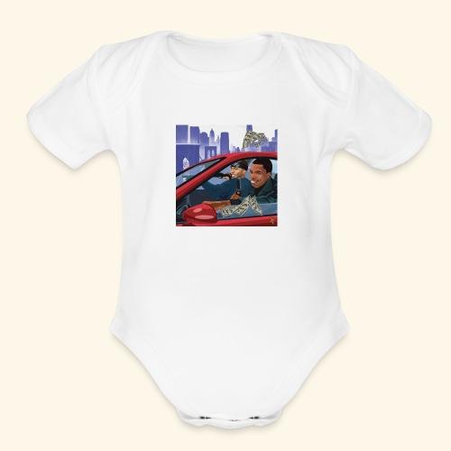 A Boogie Wit Da Hoodie Caroon - Organic Short Sleeve Baby Bodysuit
