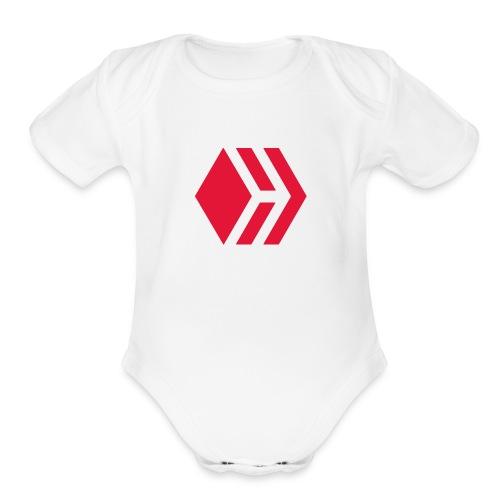 Hive logo - Organic Short Sleeve Baby Bodysuit