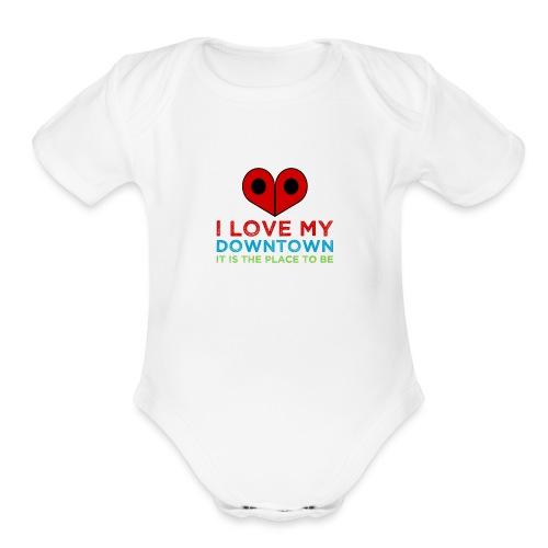 PlaceToBe - Organic Short Sleeve Baby Bodysuit