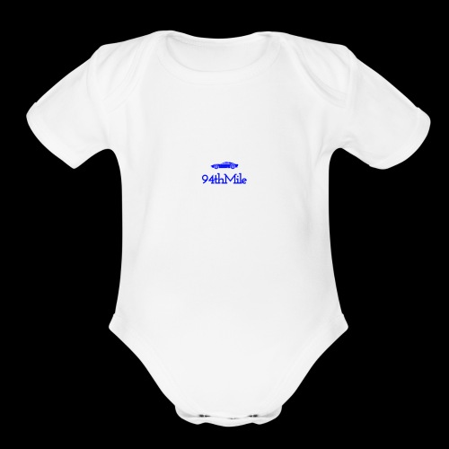Blue 94th mile - Organic Short Sleeve Baby Bodysuit