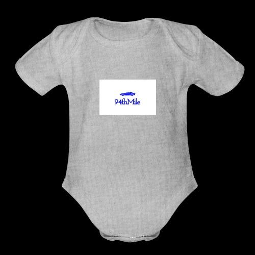 Blue 94th mile - Organic Short Sleeve Baby Bodysuit