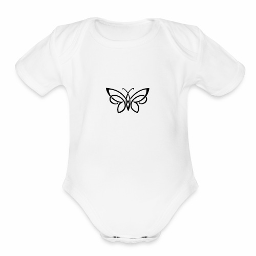 Flow - Organic Short Sleeve Baby Bodysuit