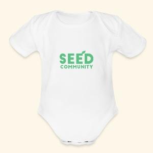 SEED Community Logotype - Green - Short Sleeve Baby Bodysuit