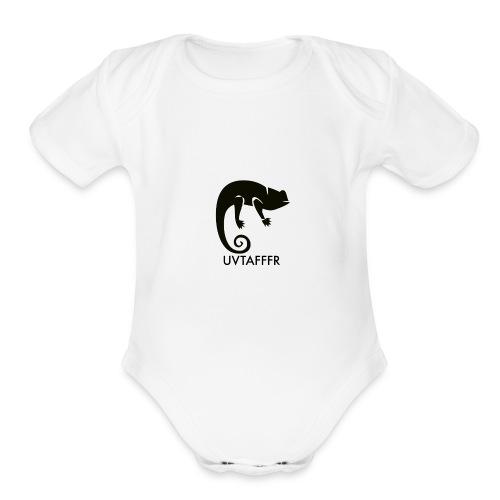 UVTAFFFR LOGO - Organic Short Sleeve Baby Bodysuit