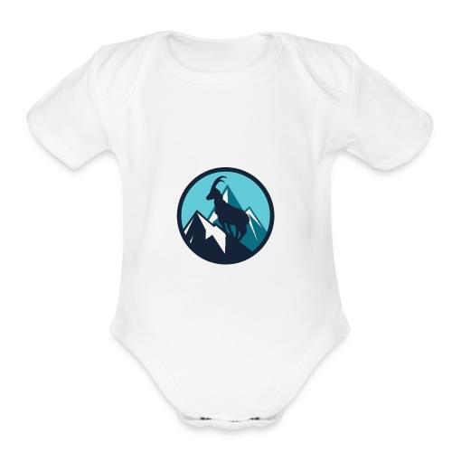 Mountain Animal - Organic Short Sleeve Baby Bodysuit