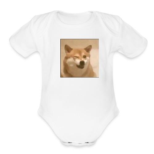 DOGE WINK - Organic Short Sleeve Baby Bodysuit