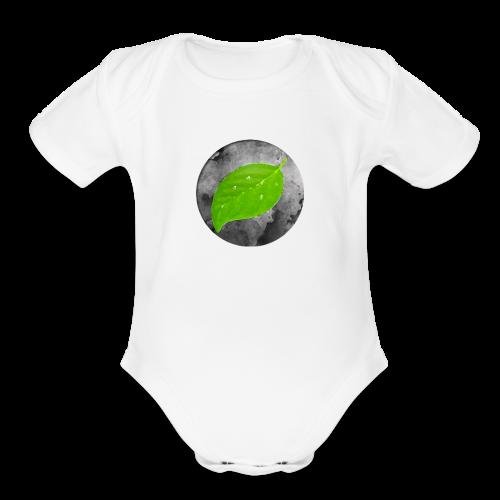 Falling Leaf - Organic Short Sleeve Baby Bodysuit