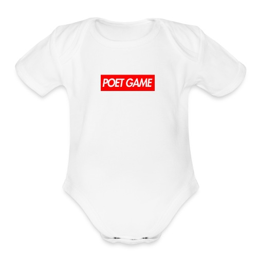 POET GAME BOX LOGO MERCH - Organic Short Sleeve Baby Bodysuit
