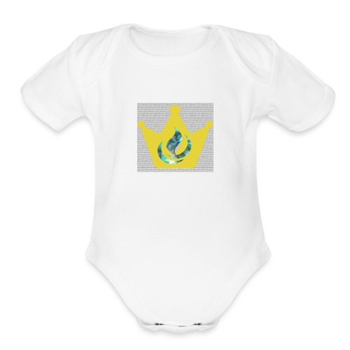 Flaming Crown - Organic Short Sleeve Baby Bodysuit