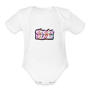 Pimpollos distroller official logo - Short Sleeve Baby Bodysuit
