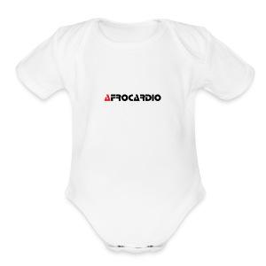 AFRO WHITE 2 - Short Sleeve Baby Bodysuit