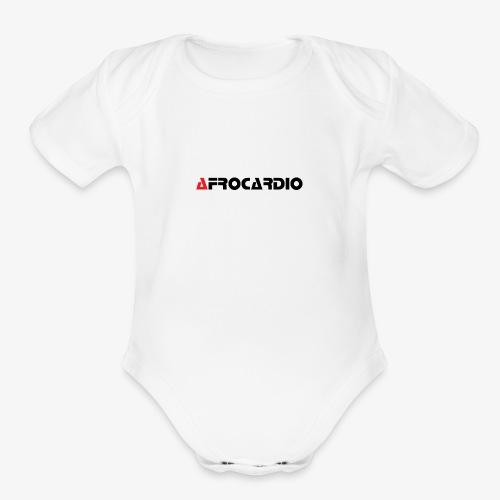 AFRO WHITE 2 - Organic Short Sleeve Baby Bodysuit