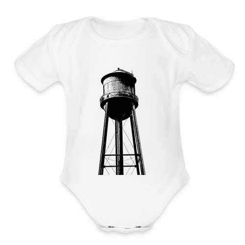 Water Tower - Organic Short Sleeve Baby Bodysuit