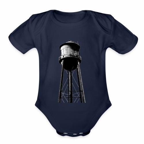 Water Tower - Organic Short Sleeve Baby Bodysuit