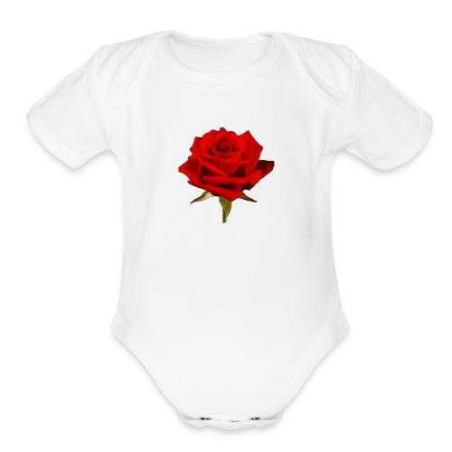 Rose For My Sweet - Organic Short Sleeve Baby Bodysuit