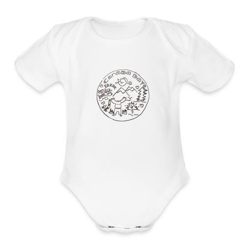 Canada Day - Organic Short Sleeve Baby Bodysuit