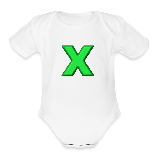 X - Organic Short Sleeve Baby Bodysuit