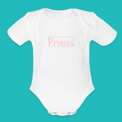 Princes!!! - Organic Short Sleeve Baby Bodysuit