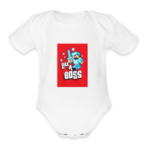 like a boss boys long sleeve2 - Organic Short Sleeve Baby Bodysuit
