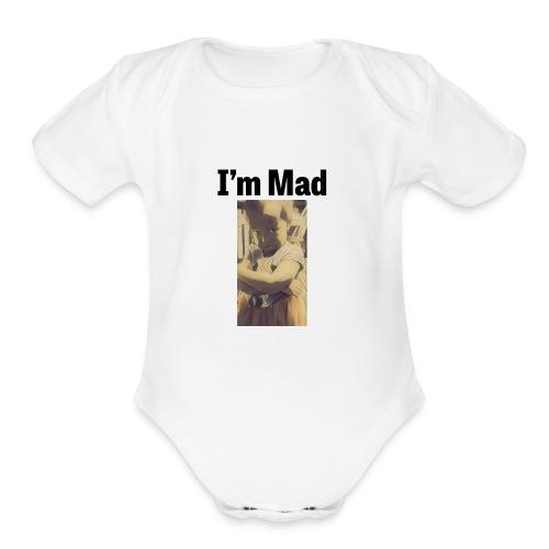 design 302536820 13610293 christen olivia sadface - Organic Short Sleeve Baby Bodysuit