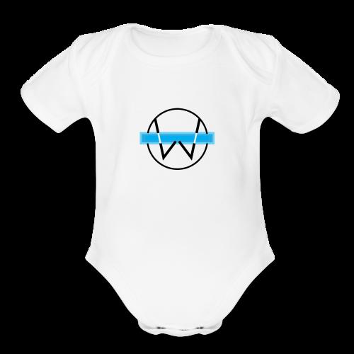 Lil White Logo - Organic Short Sleeve Baby Bodysuit