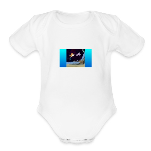 jack in spaceack space - Organic Short Sleeve Baby Bodysuit
