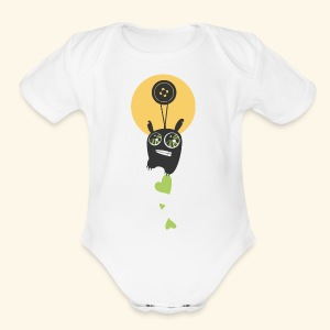Cartoon - Short Sleeve Baby Bodysuit