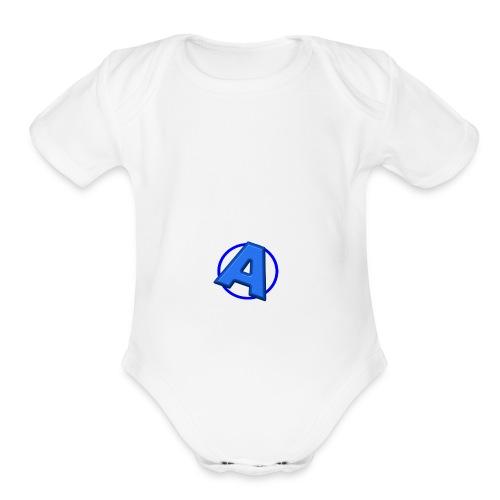 Awesomegamer Logo - Organic Short Sleeve Baby Bodysuit