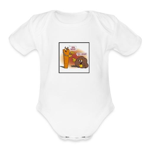 Rock And Ruler - Organic Short Sleeve Baby Bodysuit