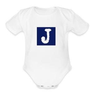 j logo big - Short Sleeve Baby Bodysuit