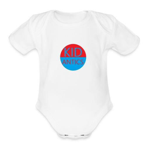 KidAntics Collection M1 - Organic Short Sleeve Baby Bodysuit