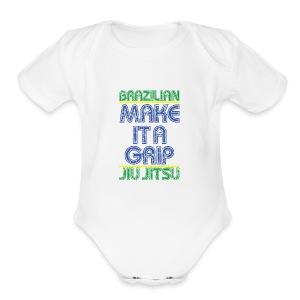 BJJ Make It A Grip Tee - Short Sleeve Baby Bodysuit