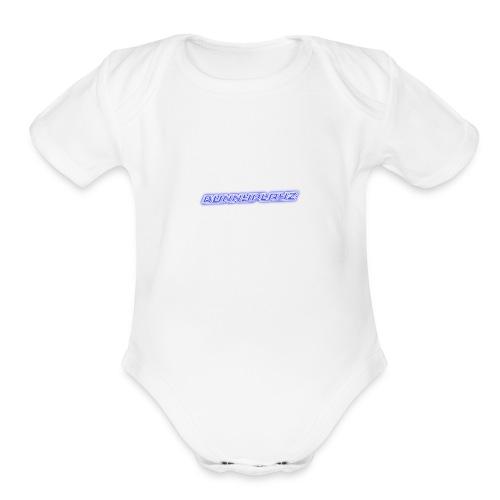 Cool 3D text merchandise - Organic Short Sleeve Baby Bodysuit