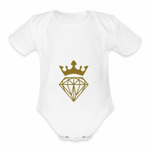 King dimond - Organic Short Sleeve Baby Bodysuit