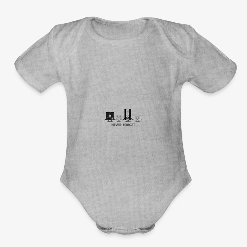 Never forget - Organic Short Sleeve Baby Bodysuit