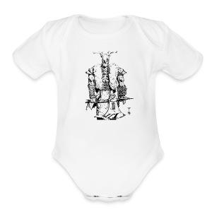 Viking warrior - Short Sleeve Baby Bodysuit